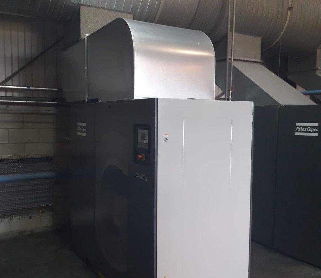 atlas copco compressor ducting by PPS