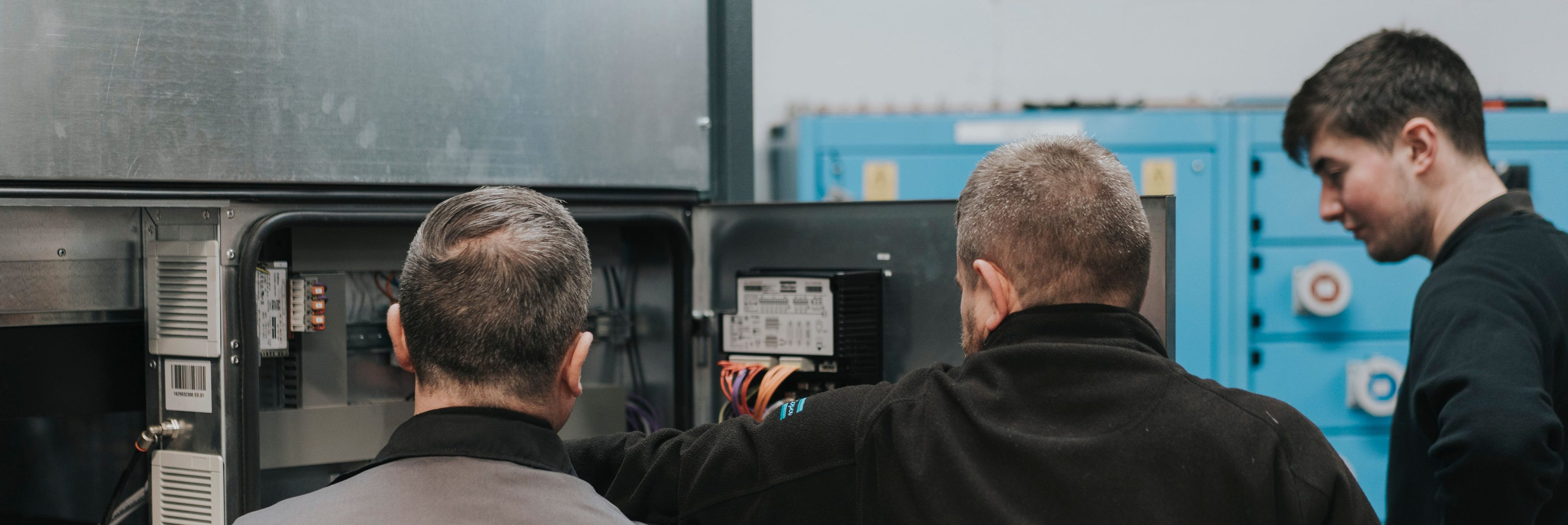 PPS compressed air engineers working