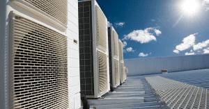 Sun shining on some HVAC units