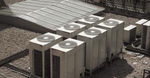 Six HVAC units