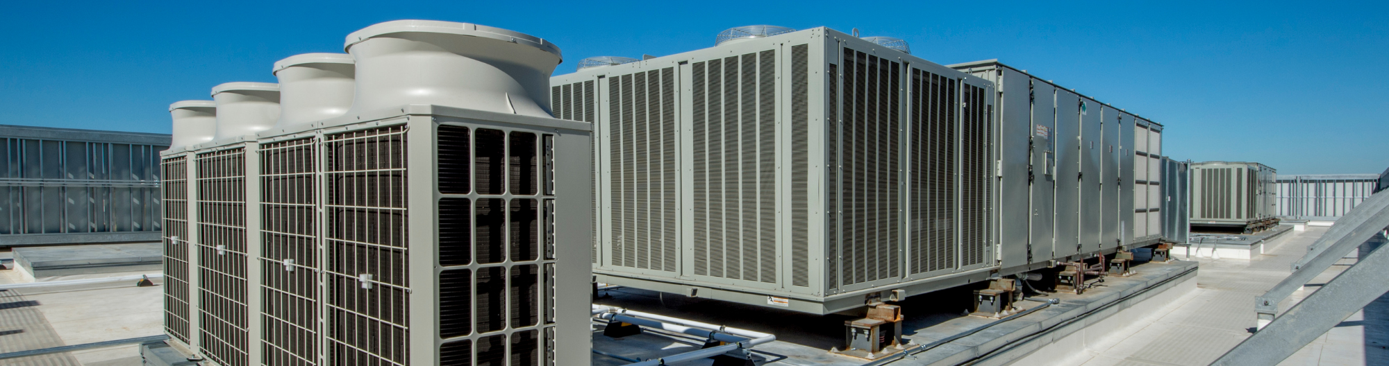 Large HVAC system on top of roof