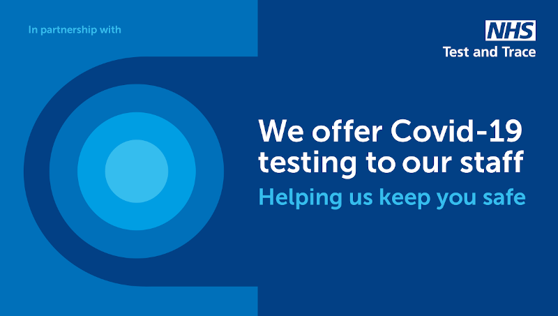 We offer covid 19 testing to our staff