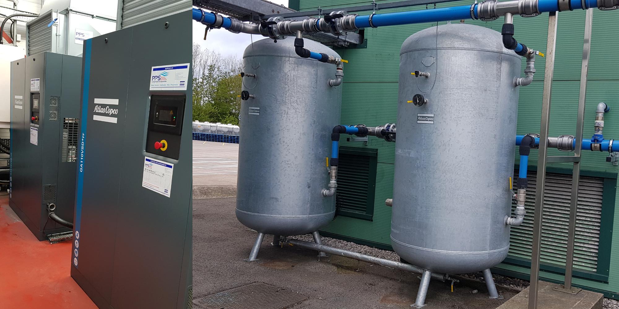 Morrisons Gadbrook compressed air system