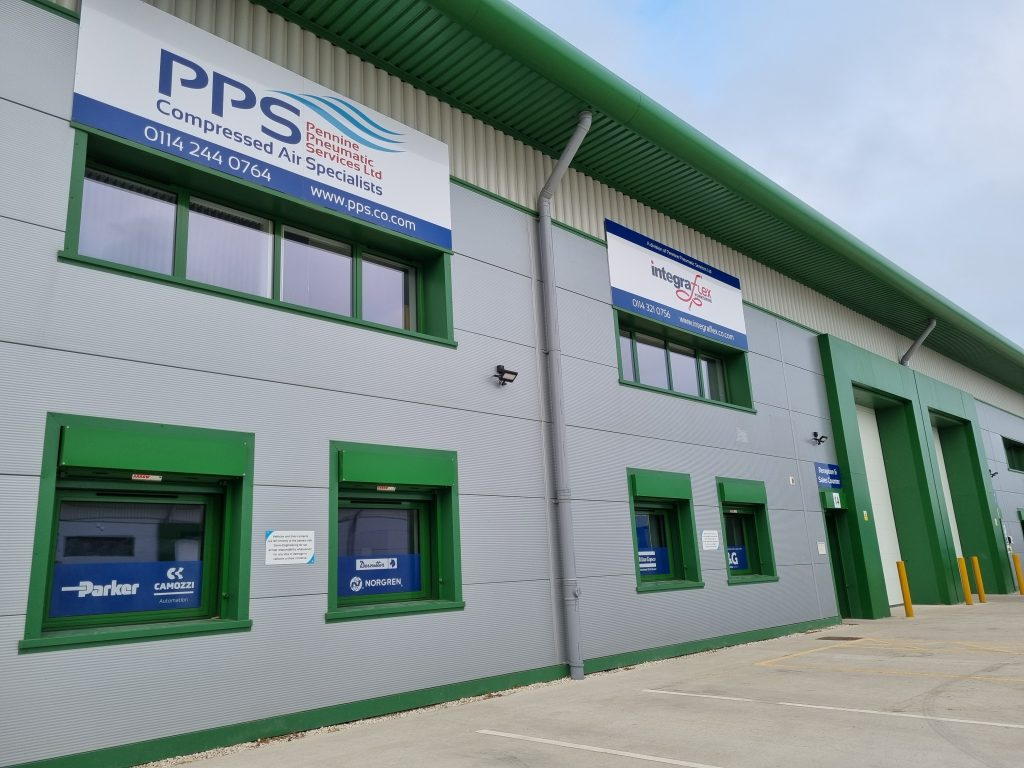 Image showing the outside of the South Yorkshire branch of Pennine Pneumatic Services Ltd